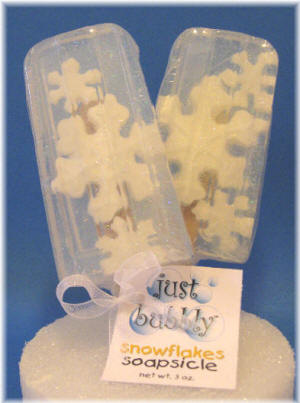 snowflake Soap Pop